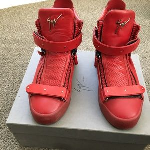 Red Giuseppe  Zanotti sneakers. 100% Authentic